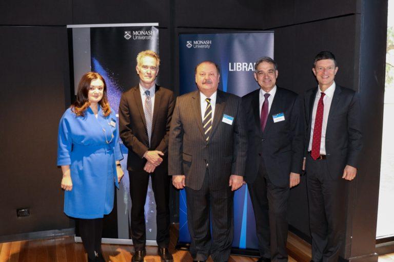 At the conference opening: Professor Natalia Chaban, Mr Bob Gerrity, Ambassador Mykola Kulinich, Professor Marko Pavlyshyn, Professor Marc Parlange
