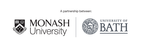 A partnership between Monash University and Bath University logo