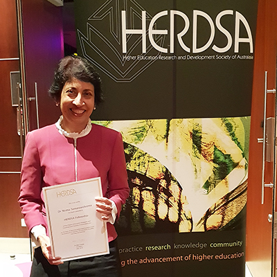 Dr Nirma Samarawickrema at the HERDSA annual conference.