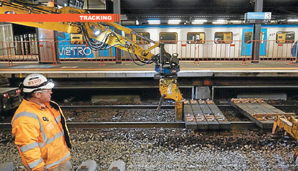 Recycled-waste sleepers enter first metro trial