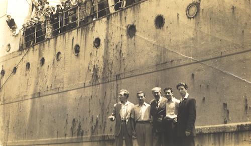 The Derna. Joe S (second from left).