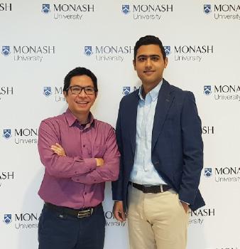 Dr Lan Nguyen and PhD student Milad Ghomlaghi