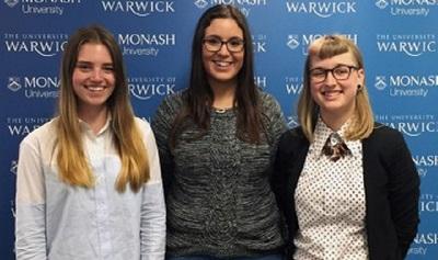 Lara Howden, Erin McKernan and Hannah Carle