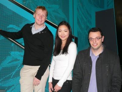 Challenge team members Hugh Farquhar, Jane Lee and Alex Mirt