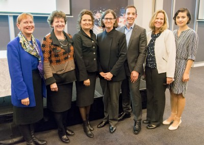 Associate Professor Renata Kokanovic (3rd from left) and the investigator team with Monash University\'s Professor Pauline Nestor, Vice-Provost – Research (centre) and the Hon Steve Dimopoulos, MP (3rd from right)