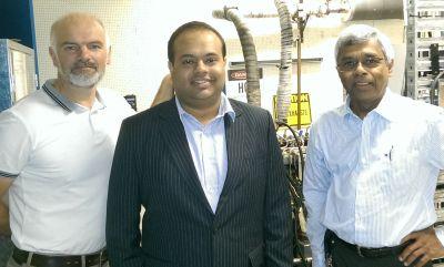 (L-R): Professor Damon Honnery, Dr Varun Rao and Dr Daya Dayawansa