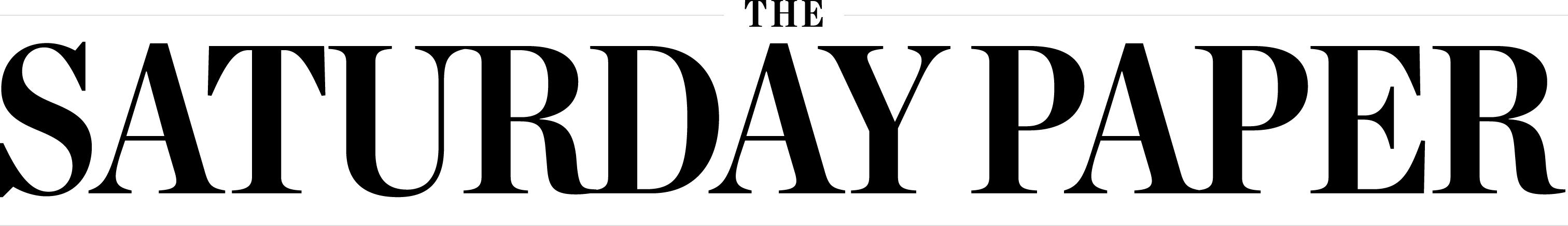 TheSaturdayPaper-logo-black