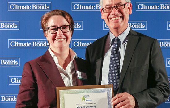 Climate Bonds CEO Sean Kidney and  Dr Siobhan Martin, Chair of the UK Monash Global Alumni Leaders Network