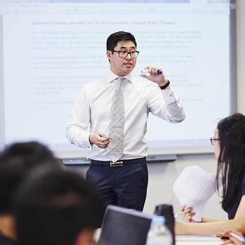 Jonathan Teoh in class