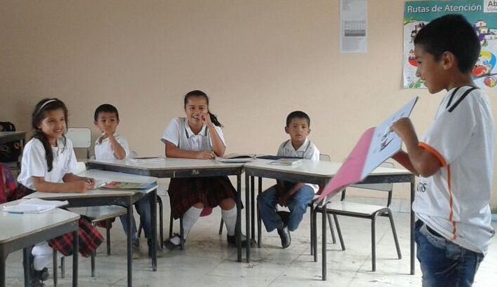 Inside a Colombian classroom