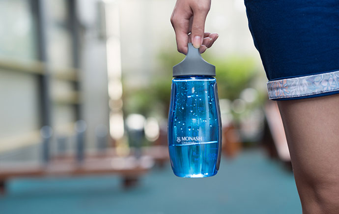 Blue Monash water bottle