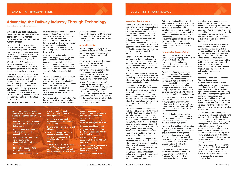 IRT Featured in Materials Australia - Monash Institute of
