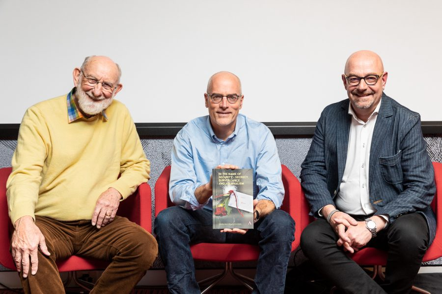Co-editor Associate Professor Johan Lidberg celebrates book launch of In the Name of Security