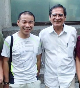 Michael Kho Lim with Sir Doy