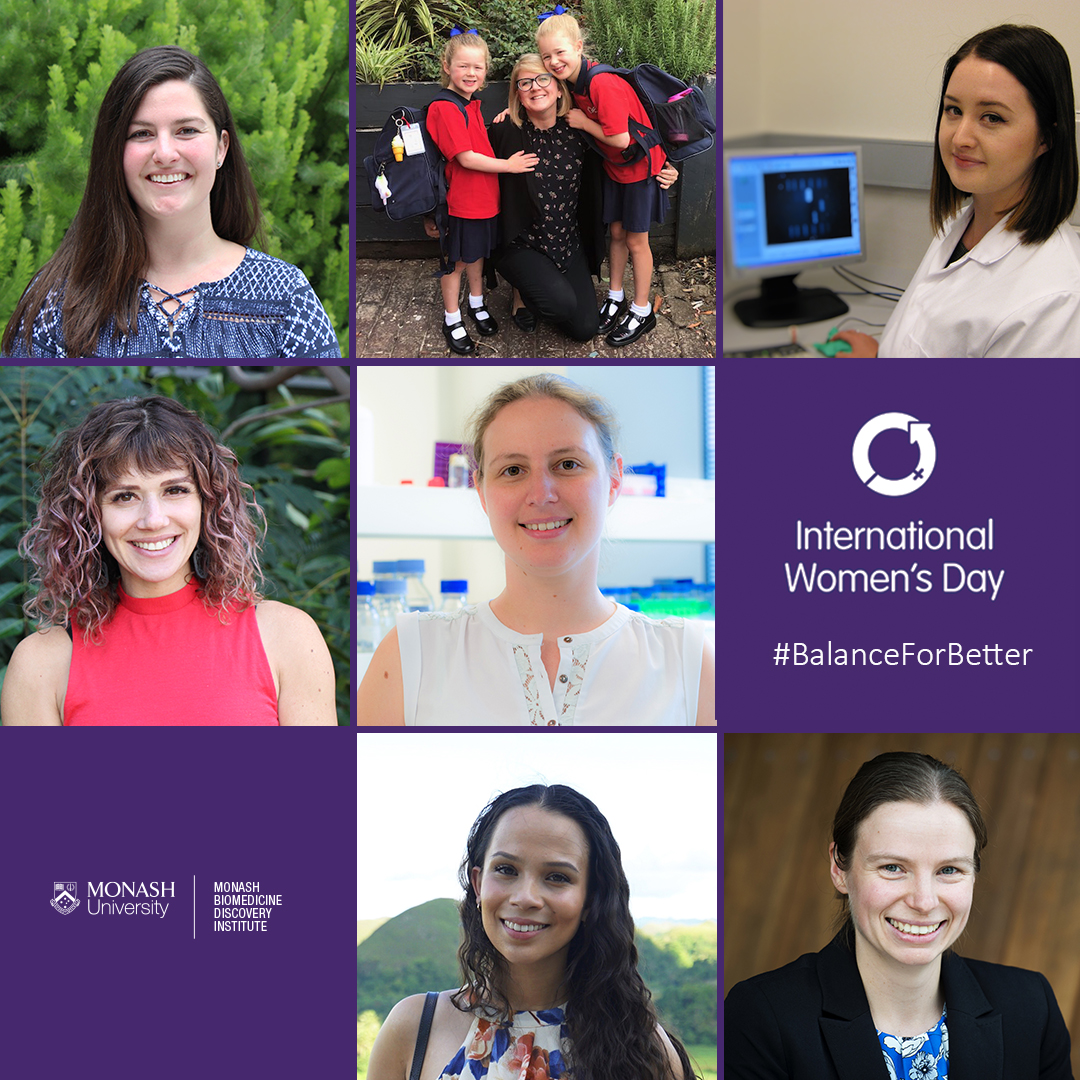 Top: Brooke Fehily, Dr Kelly Walton, Dr Sarah Larcombe.  Middle: Dr Alexandra Grubman, Dr Celeste Donato.  Bottom: Pippa Iva, Dr Jennifer Payne.
