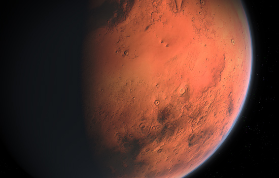 Close lookup of Mars