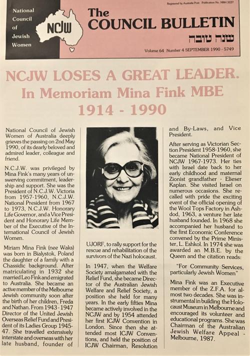 Mina Fink obituary