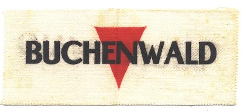 Badge worn by political prisoners in Buchenwald