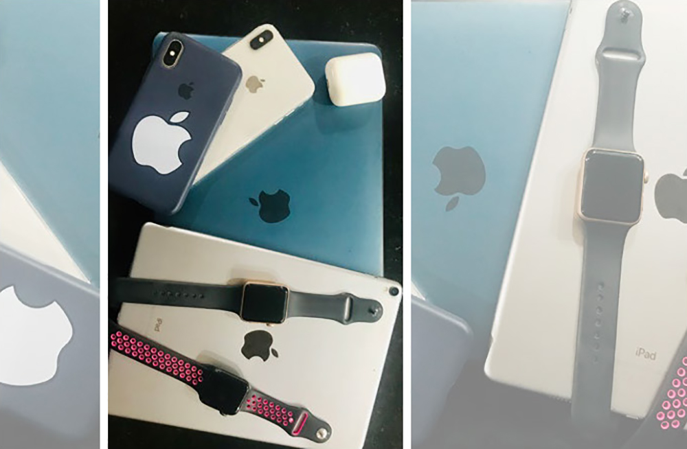 A collection of digital devices (Apple brand)