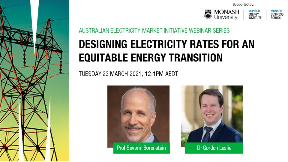 Webinar | Designing electricity rates for an equitable energy transition
