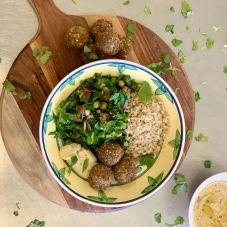 Falafel and Tabbouleh Rice Bowl