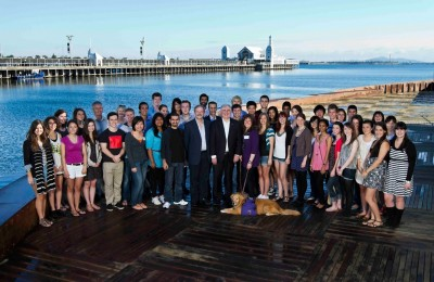 Participants in the 2011 Ancora Imparo Student Leadership Program with Vice-Chancellor Professor Ed Byrne