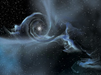 An illustration of gravitational waves. Credit: NASA