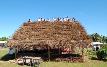 Cook island huts