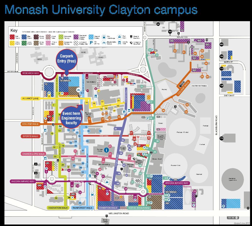 Monash university car park