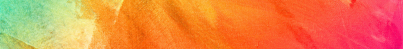 Paint on canvas orange pink