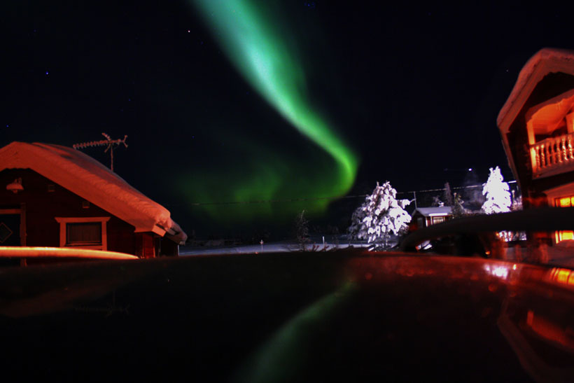 Northern Lights (Aurora Borealis) in the Arctic Circle