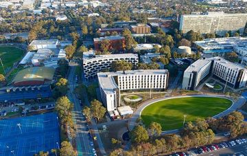 Caulfield campus birds eye view