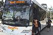 boarding shuttle bus