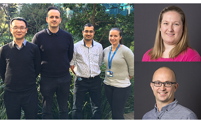 L-R: Professor Jian Li, Dr Tristan Chaplin, Dr Nitin Patil, Dr Kate McArthur, Associate Professor Stephanie Gras and Associate Professor Zane Andrews.