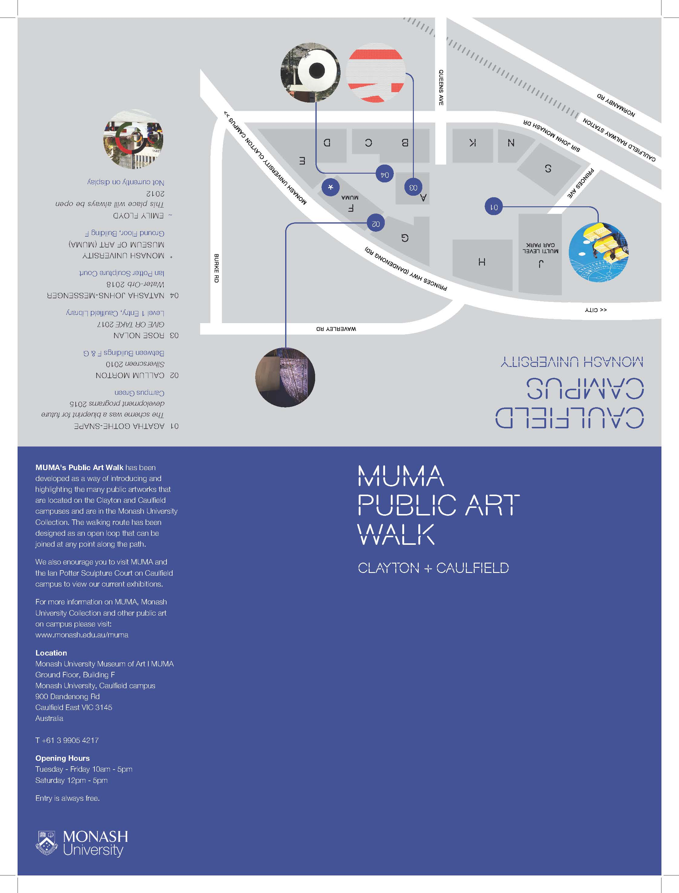 Public Art Walk Map 2018