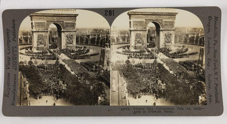Victory Day celebration, July 14, 1919 - Arch of Triumph, France