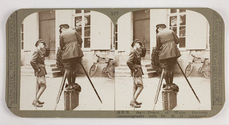 H.R.H. the Prince of Wales discusses cinematography with Dr. H.D. Girdwood