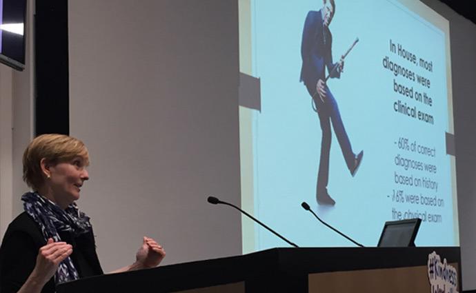 Dr Lisa Sanders presenting