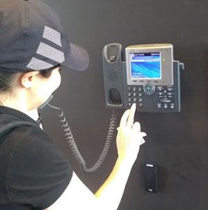 Emergency help point phone