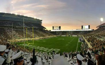 American football game at Michigan State University