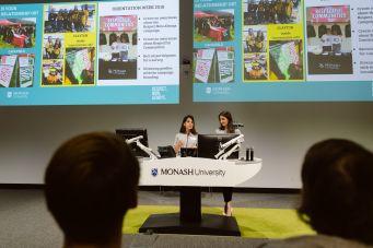 2018 Two women giving presentation