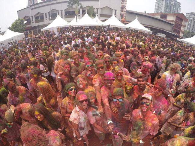 Selfie at the holi festival