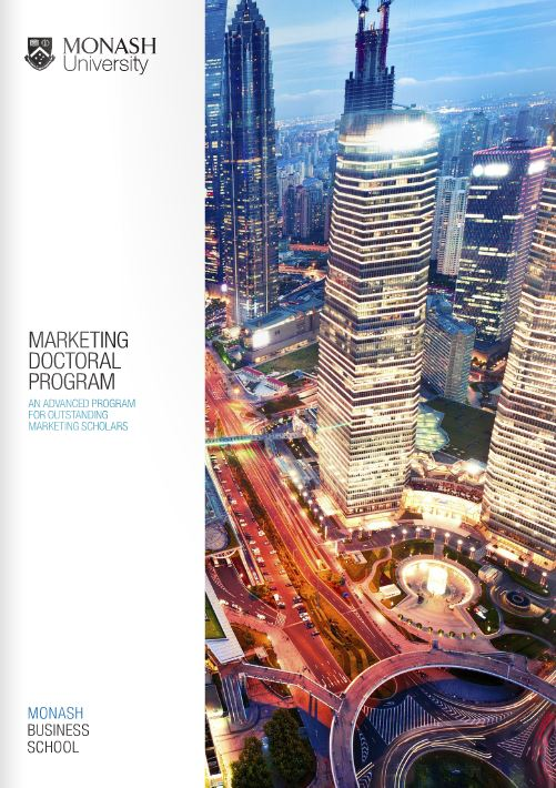 Marketing doctoral program brochure