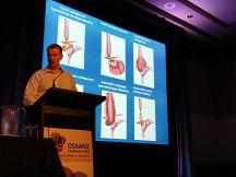 Photograph of Mr Paul Burton presenting at the OSSANZ conference