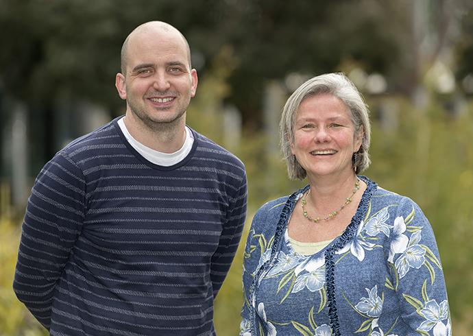 Professor Mibel Aguilar and Dr Mark Del Borgo.