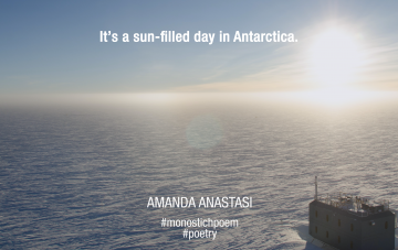 It's a sun-filled day in Antarctica.