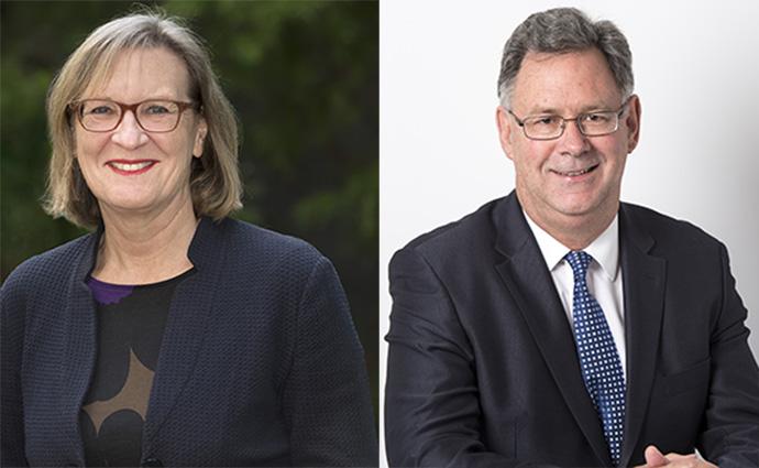 New AAHMS Fellows, Professor Gail Risbridger and Professor John Bertram.