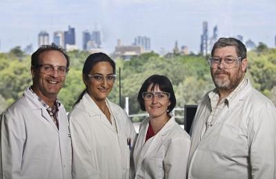 Dr David Morton, PhD student Gemma Nassta, Dr Michelle McIntosh, Dr Richard Prankerd