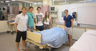 Students from Sale undertakeing placements at Gippsland Paediatrics