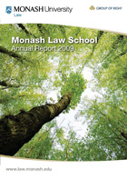 Monash Law School Annual Report 2009 cover